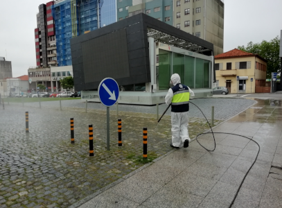 Miya disinfects streets and public spaces in the north of Portugal